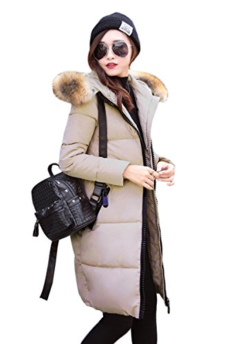 Color Brown05 Winter Long Cotton Solid Jacket Winter YMING Light Down Women's OTCvY