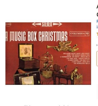 A Music Box Christmas: Carols and Hymns Played on Rita Ford's 19th Century Music Boxes [ VINYL LP Record Album ]