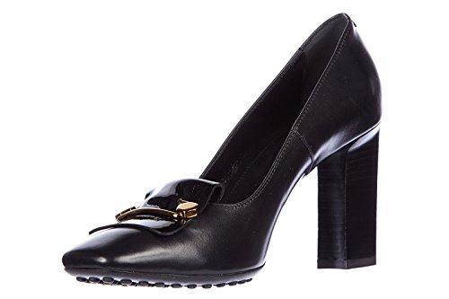 Tod's escarpins chaussures femme à talon en cuir caoutchouc t90 accessoireso sp