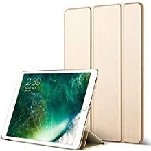 DuraSafe Cases for iPad PRO 12.9 Inch 1 Gen - 2015 [ A1584 A1652 ] Smart Cover with Transparent Back - Gold (Auto Sleep/Wake)