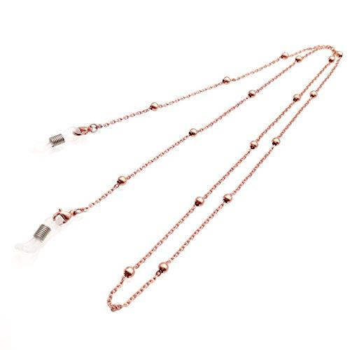 in Holder Beaded Glasses Strap Sunglass Chains for Women (Rose gold) (Glass Beaded Holder)
