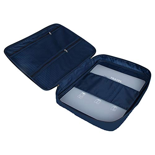 Lezed Anti-Wrinkle Shirt Bag Shirt Packing Organiser for Suitcase Shirt Case Protector for Luggage Packing Folder Shirt Packer Storage Box Men Shirt Tie Wrinkle-Free Travel Garment Bag Dark Blue