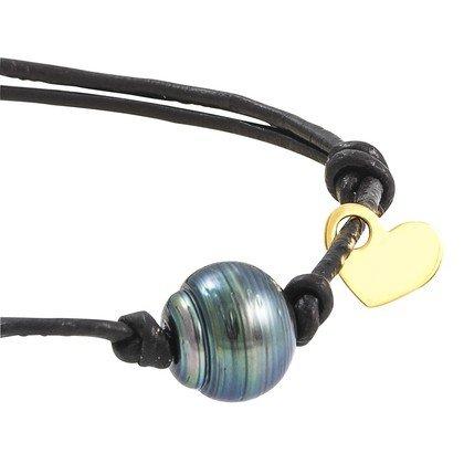 HISTOIRE D'OR - Bracelet Or Perle de Culture de Tahiti - Femme - Or jaune 375/1000 - Taille Unique