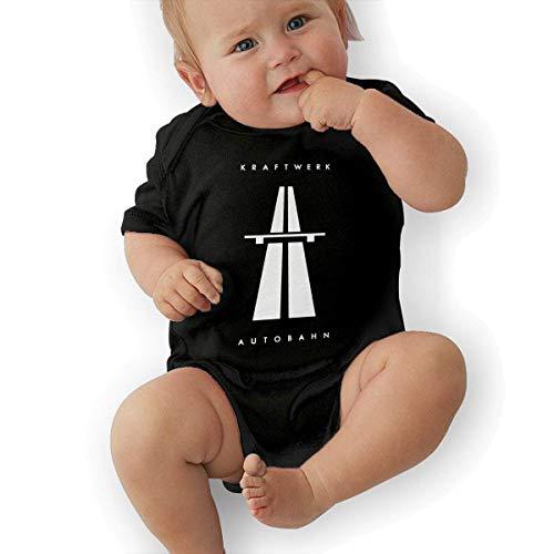 sretinez Baby's Kraftwerk Autobahn Onesies Bodysuit Black (Autobahn Apparel)