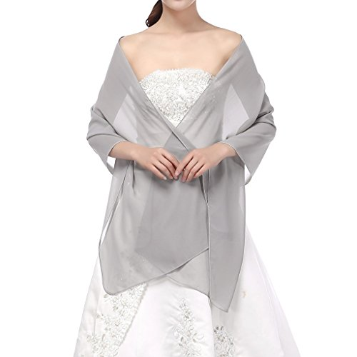 Yesdo Sheer Bridesmaid Shawls Evening Wraps for Prom Party Sliver