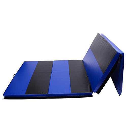 Folding Gymnastics Mat 4' x 10' x 2' Martial Arts Aerobics Exercise Yoga Tumbling Pad With Ebook by MRT SUPPLY