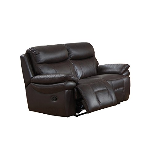 Amax Leather Summerland's Leather Reclining Loveseat, Brown
