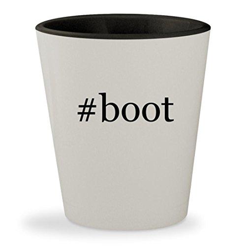 #boot - Hashtag White Outer & Black Inner Ceramic 1.5oz Shot - Jennifer Lopez Black Dress