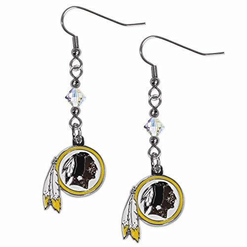 (Gifts Licensed Gifts NFL Washington Redskins Crystal Dangle Earrings)
