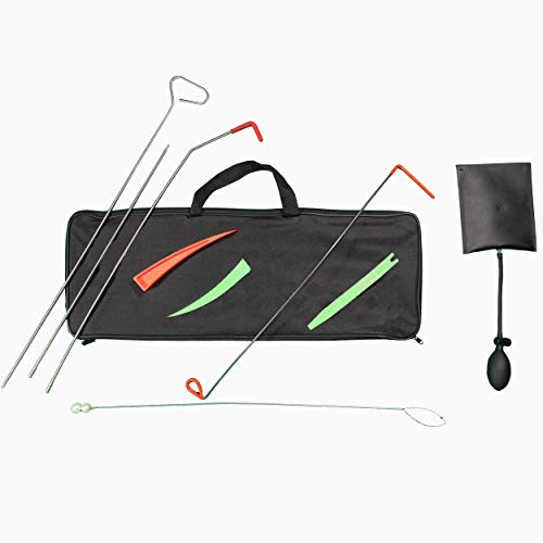 TSafe Full Professional Kit- Long Reach Grabber, Air Wedge, Knob Grabber, 2 Non Marring Wedges, Pry Tool, Short Grabber, Carrying Case