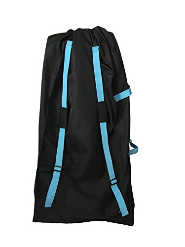 Bububee 'Elua XL Double Stroller Gate Check Travel Bag (Black & Aqua) by Bububee (Image #2)