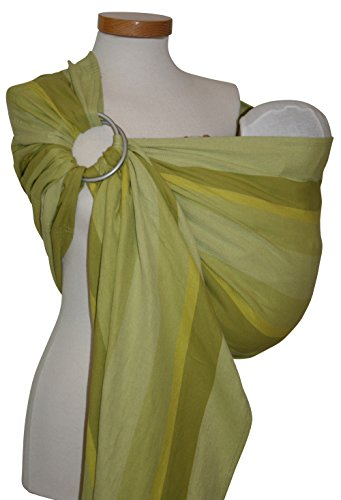 Storchenwiege Ring Sling 100% Woven Organic Cotton Baby Carrier One Size Fits All From Germany (Olivia)