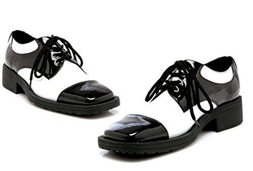 Shoe Oxford Black And White Men Large (Mens Disco Shoes)