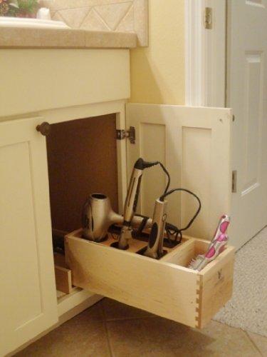 Hair Appliance Organizer, hair dryer, flat iron, curling ...