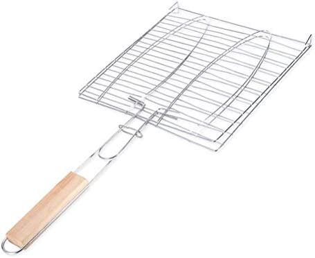 Creacom Big BBQ Fish Grilling Basket Spatula Holder Barbecue Accessories for Vegetables Meat Iron Wire Barbecue Net