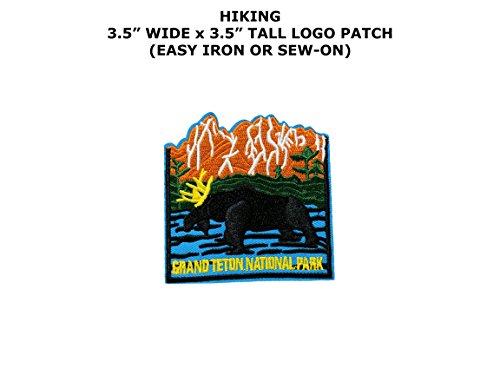 Grand Teton National Park Hiking Traveling Embroidered Iron/Sew-on Comic Cartoon Theme Logo (Game Of Thrones Mountain Costume)