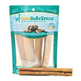 Best Bully Sticks Premium 6-Inch Jumbo Bully Sticks (4 Pack) - All-Natural, Free-Range, Grass-Fed, 100% Beef Single-Ingredient Dog Chews