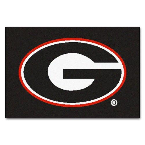 FANMATS NCAA University of Georgia Bulldogs Nylon Face Starter Rug - Mlb Team Rug