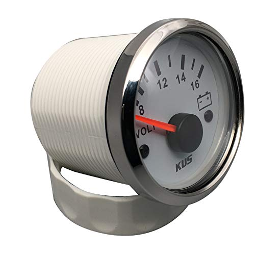 2 with Backlight KUS Voltmeter Voltage Gauge Meter 8-16V 52MM