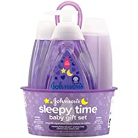 Johnson's Sleepy Time Baby Gift Set with Relaxing NaturalCalm Aromas (4 Items)