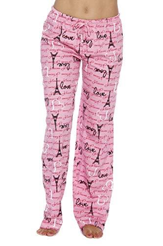 6324-10007-M Just Love Women Pajama Pants / Sleepwear, Love Paris Pink, Medium