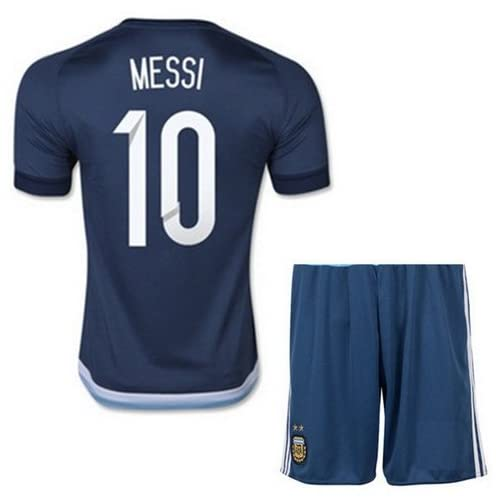 fe10e45c1 iSport Gifts® Argentina Home   Away Messi  10 Kids Soccer Jersey and Soccer  Shorts