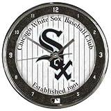 MLB Chicago White Sox Chrome Clock