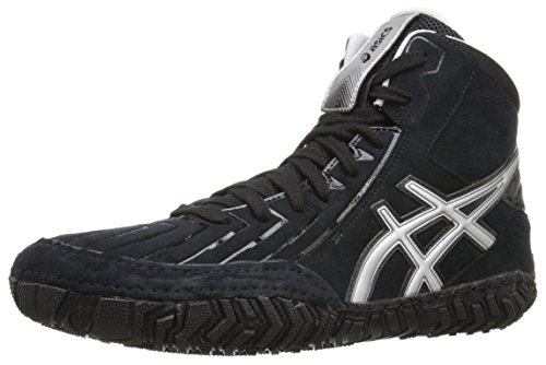 ASICS Mens Aggressor 3 Wrestling Shoe BlackSilver 9 M US