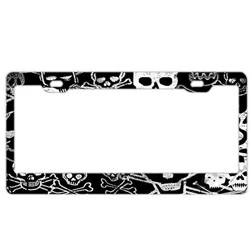 Skull and Cross Bones Metal License Plate Tag Aluminum Car Decor Cover for Woman Man 12 X 6