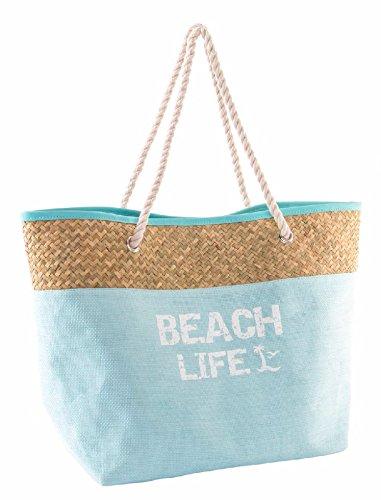 Articolo Beach Live Tote Bag e la spiaggia, 52 cm, Verde