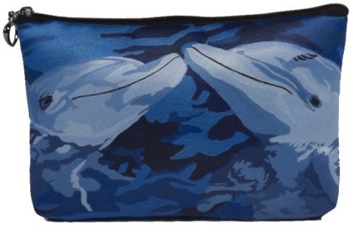 Price comparison product image Dolphins Cosmetic Bag,  Zip-top Closer - Taken From My Original Paintings (Dolphins - The Kiss)