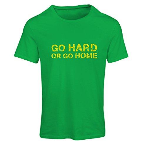 Camiseta Mujer'Go Hard or Go Home' para Sentadillas, Banco de Prensa y Ejercicios de Levantamiento de Pesas (X-Large Verde...