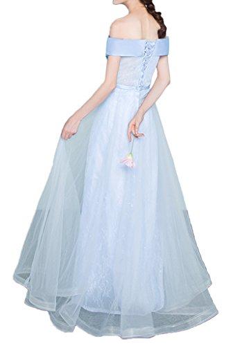 Di Abito Cabina Tulle Cielo Avril Luce Bridesmiad Impero Blu Partito Vestito Del spalla Del Vestito Glamour Da 8c1AggyxTd
