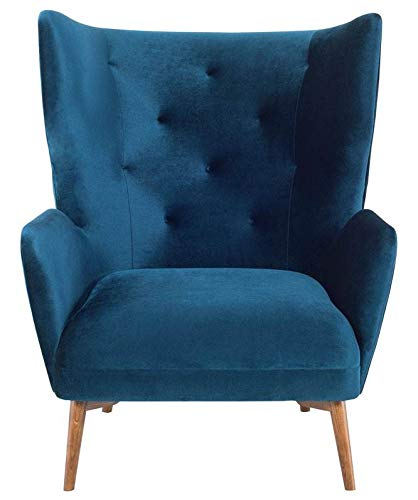 Amazon.com: Nuevo Klara Single Seat Sofa in Walnut and ...