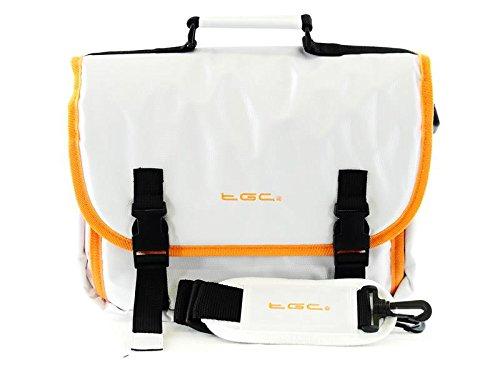 TGC Messenger Fall Tasche für Samsung Galaxy NotePro 12.2Wi Karmesinrot/Schwarz Cool White With Hot Orange Lining & Trims
