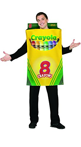 (Rasta Imposta Crayola Crayon Box Costume, Yellow/Green, One)