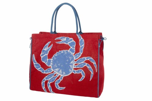 [Mud Pie Red Crab Cape Cod Tote] (Horse For Sale Costume)