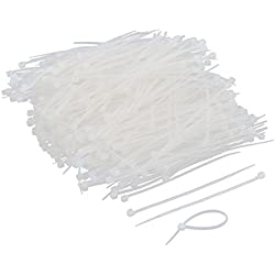 uxcell Plastic Household Shop Clothing Cable Tie Fasten Wrap 750 Pcs Clear