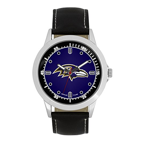 NFL Baltimore Ravens Mens Player Series Wrist Watch, Silver, One Size ()