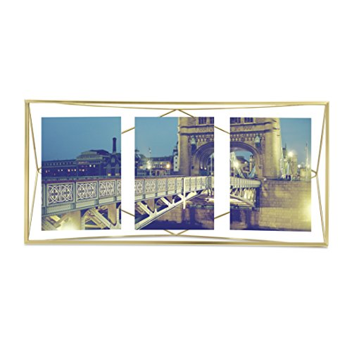 Umbra Prisma Multi Picture Frame, Matte Brass (Multi Collection Metal)