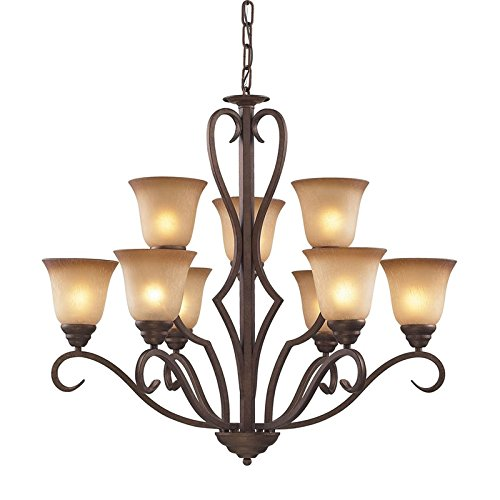 Elk 9329/6+3 Lawrenceville 9-Light Two Tier Chandelier, 32