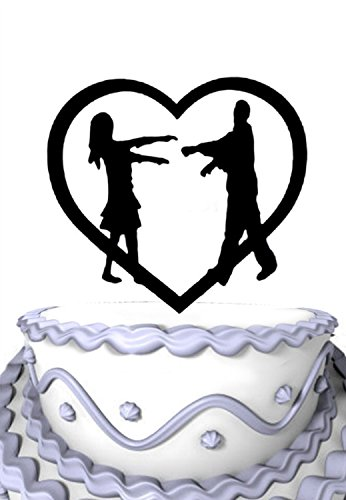 Meijiafei Zombie Couple Halloween Cake Topper for Zombies Wedding, Zombie Party -