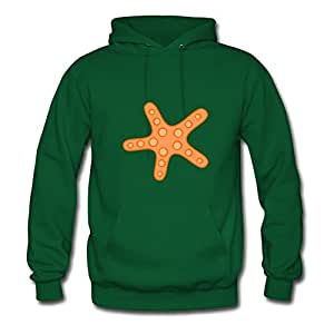 Custom Orange Starfish Cotton Women Vogue X-large Hoodies Green