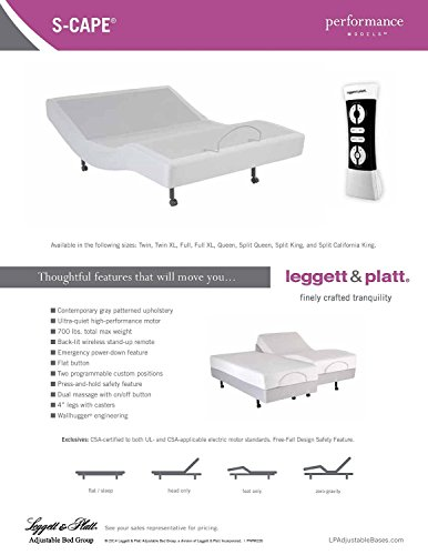 DynastyMattress S-Cape Adjustable Beds Set Sleep System Leggett & Platt, With Luxury...