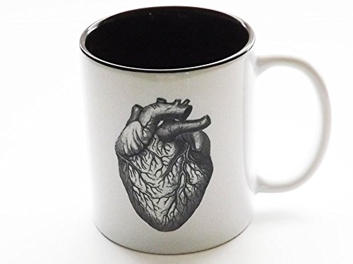 Anatomical Heart coffee Mug human body anatomy cardiology medical office home kitchen decor by art altered elements