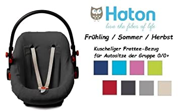 HATON BabyFit -- FROTTEE Ersatzbezug -- Fr/ü hling // Sommer // Herbst -- Universal Ersatz-Bezug f/ü r Babyschale, Autokindersitz z.B. f/ü r Maxi-Cosi, R/ö mer etc. -- FUCHSIA -- AUTOSTOELHOES 0 95R
