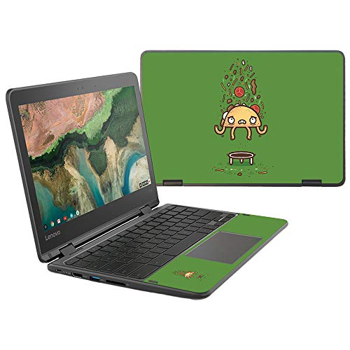 """Price comparison product image MightySkins Skin Compatible with Lenovo 300e Chromebook 11.6"""" (2018) - Taco Trampoline / Protective,  Durable,  and Unique Vinyl Decal wrap Cover / Easy to Apply,  Remove / Made in The USA"""