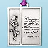 Merry Christmas Memorial Ornament - Helen Keller Remembrance Quote