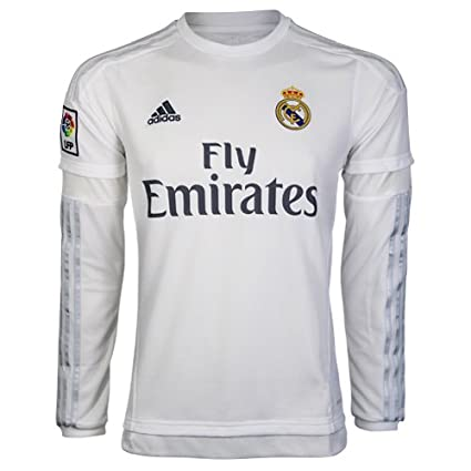 new products 22ade c21bd Amazon.com : REAL MADRID HOME LONG SLEEVE JERSEY 15/16 ...