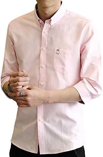 シャツ メンズ 長袖 七分袖 オックスフォードシャツ カジュアル ビジネス 春 夏 秋 おしゃれ 大きいサイズ